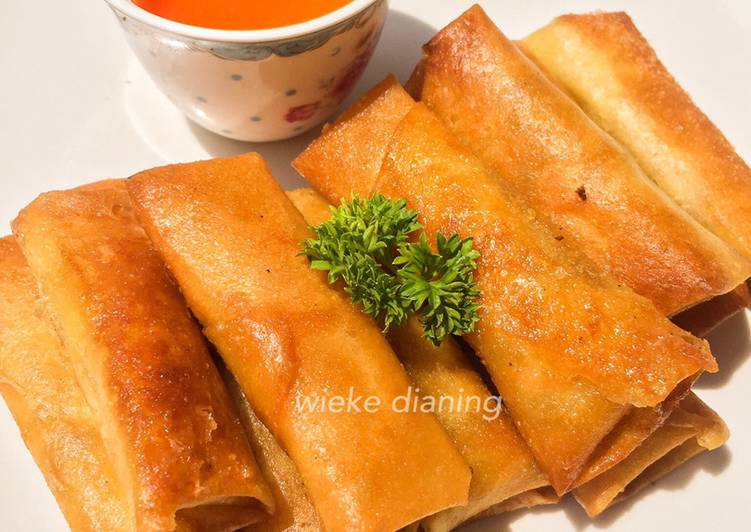 Lumpia udang (Full Udang)+ resep saus dimsum