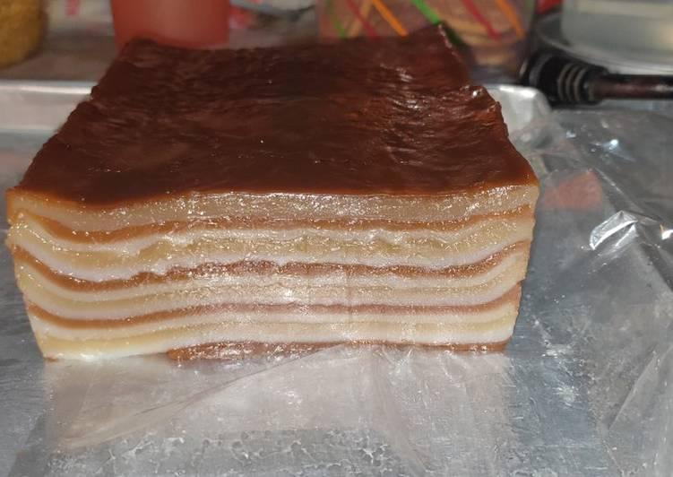 Kue lapis Menul-Menul tepung beras dan kanji/tapioka