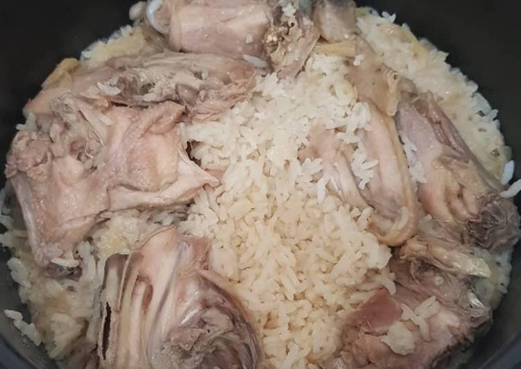 Nasi Tim Ayam Rice Cooker