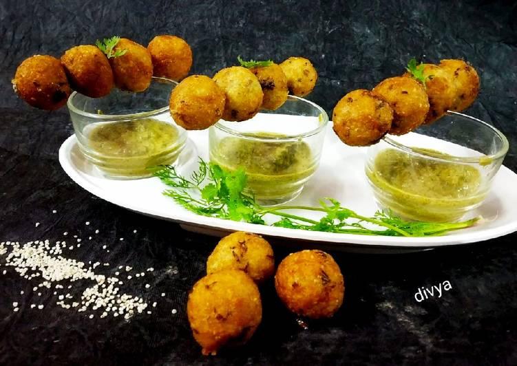 Recipe of Perfect Falari samak rice balls in hari chutney
