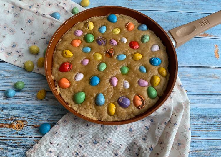 Easter egg cookie on the pan