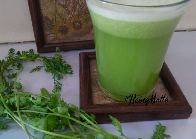Bottle gourd-cucumber- coriander juice