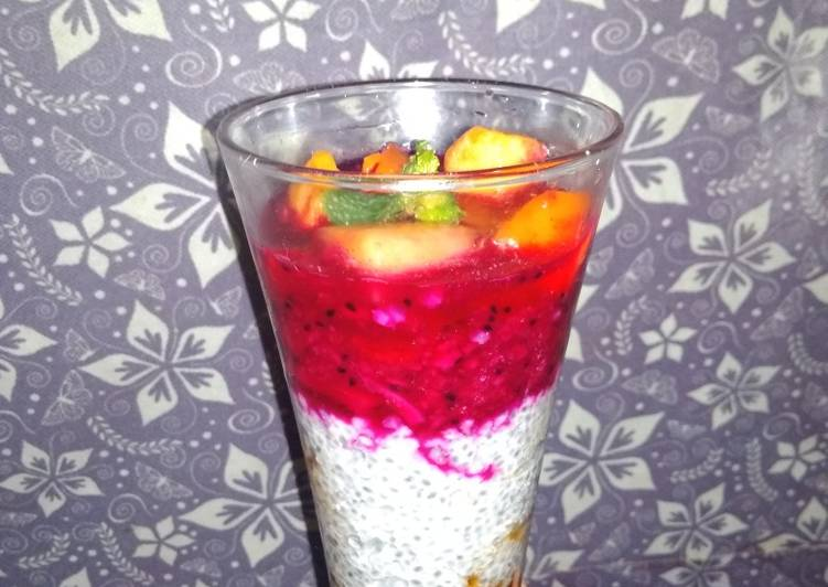Pudding fruits chiaseed