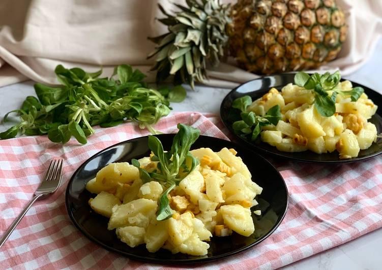 Sommerlicher Kartoffelsalat mit Ananas