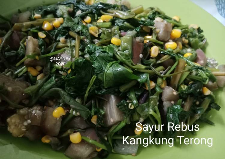 Sayur Rebus Kangkung Terong
