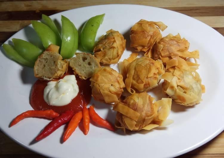 Ayam rambutan (bakso ayam goreng kekinian)