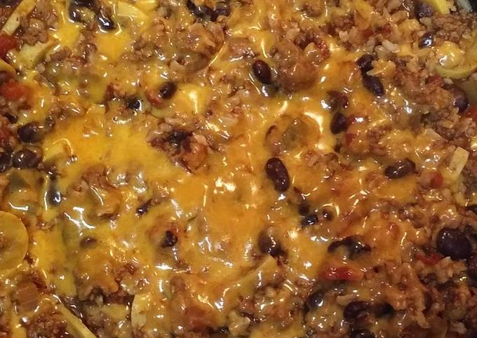 One Pot Mexican Beef and Brown Rice