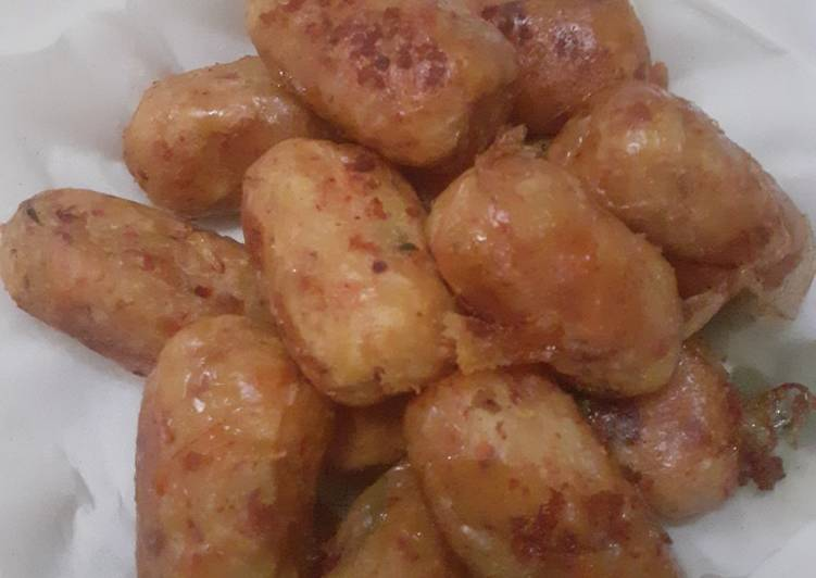 Perkedel kentang wortel kornet beeef