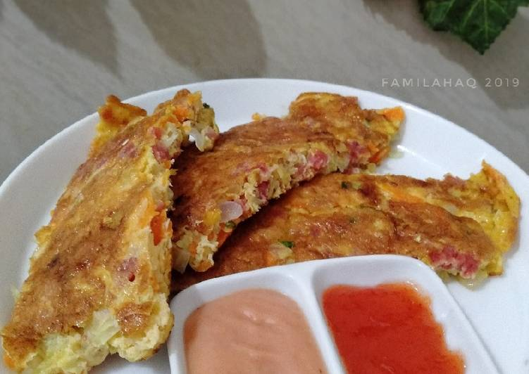 Omelette Beef Patty