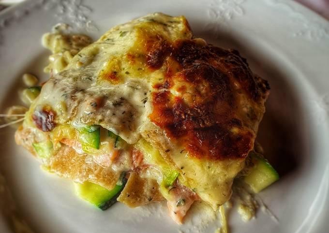 ZUCCHINI Lachs Lasagne