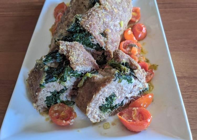 Ricetta Polpettone con spinaci e salsiccia