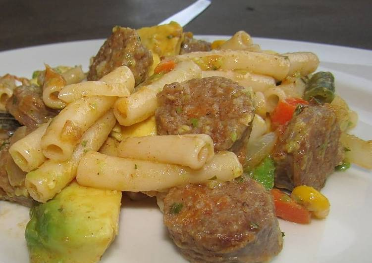 How to Prepare Perfect Pasta with sausage and avo