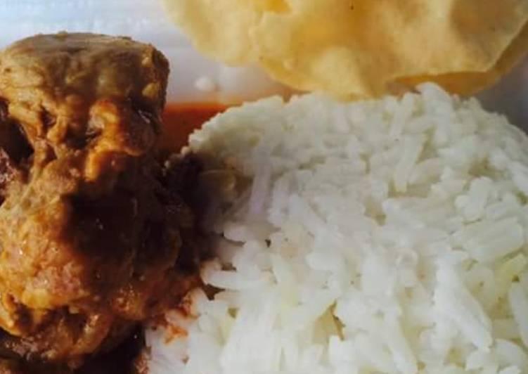 Nasi kari ayam bersama pepadum (Marathon Ramadhan) - velavinkabakery.com