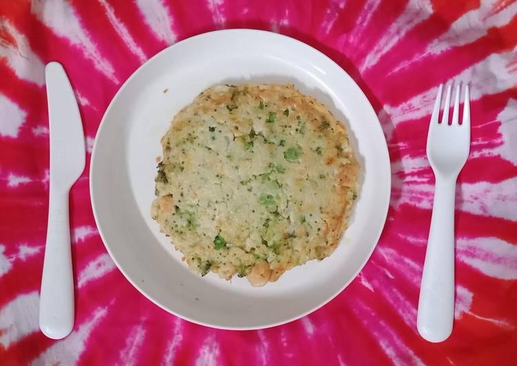 Cara membuat Omelet Nasi Sayur #mpasi 16m