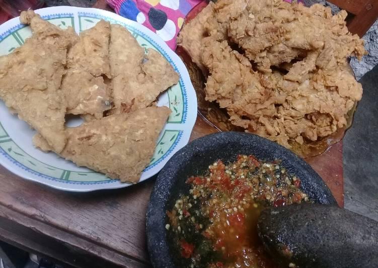 Resep Ayam goreng ala kfc dan tempe crispy plus…