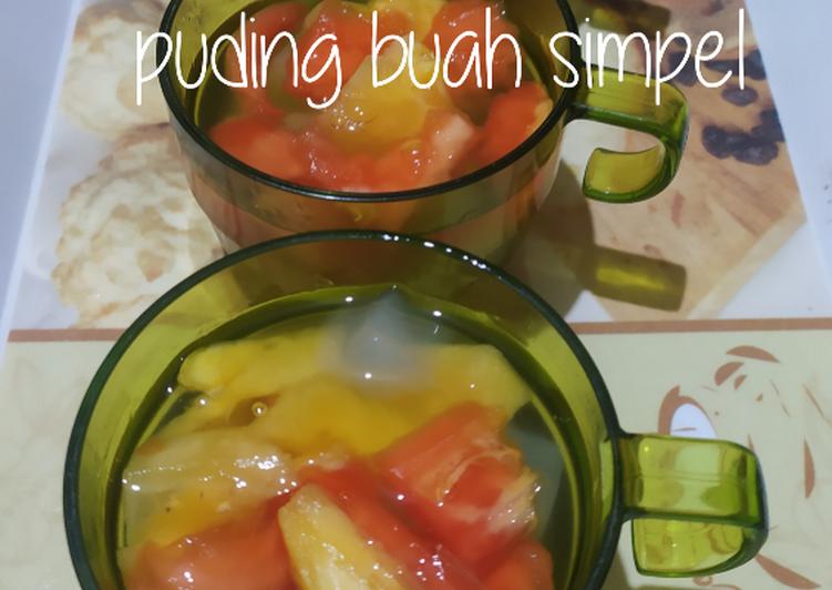 Puding buah simpel