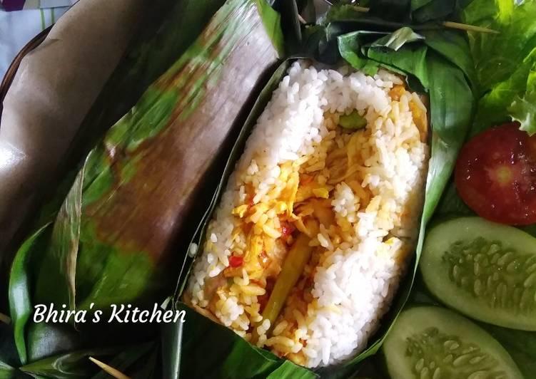 Nasi Bakar Ayam Jamur Pedas