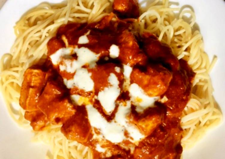 How to Make Award-winning Spaghetti with Creamy Chicken Marinara Sauce