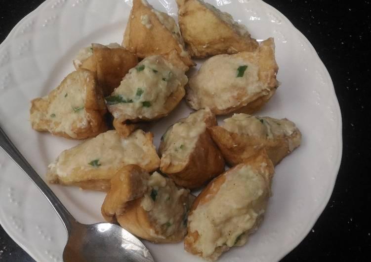 Tutorial Membuat Resep Mantab Dari Baso tahu goreng Ayam&Udang yummmmmy😋
