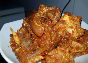 Easiest Way to Prepare Delicious Peppered goat meat