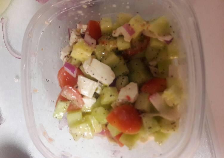 Recipe of Quick Cucumber tomato feta salad