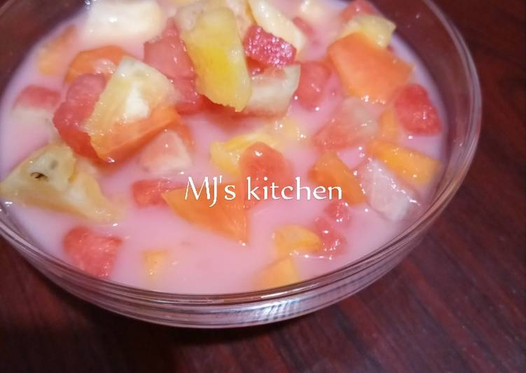 Easiest Way to Prepare Perfect Mixed fruit yogi