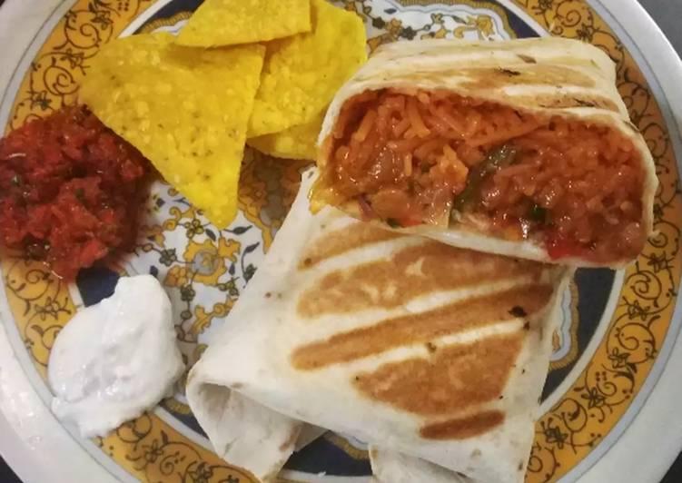 Steps to Make Quick Mexican Burritos