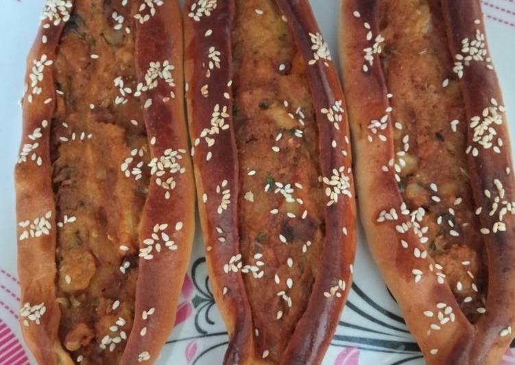 Turkish veg pide