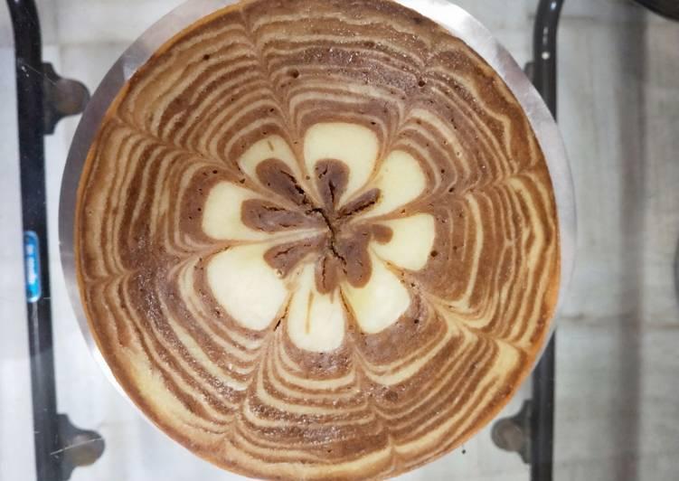 Zebra Chocolate Vanilla Marble Cake
