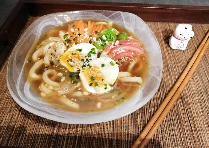 Bouillon de nouilles Udon à ma façon