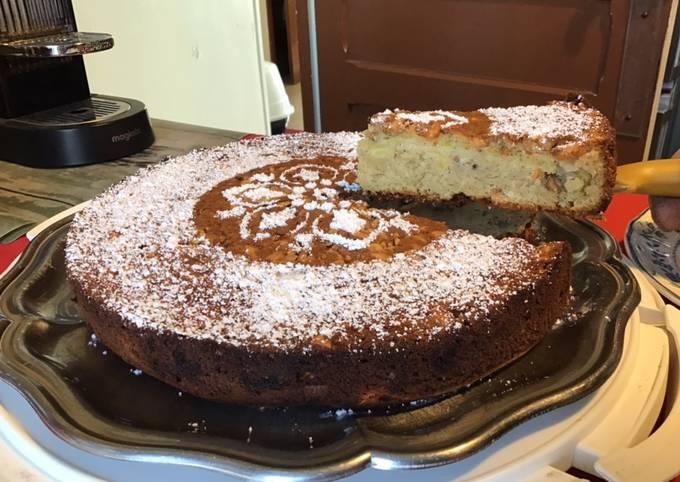 Gâteau fondant croustillant pommes cacahuètes