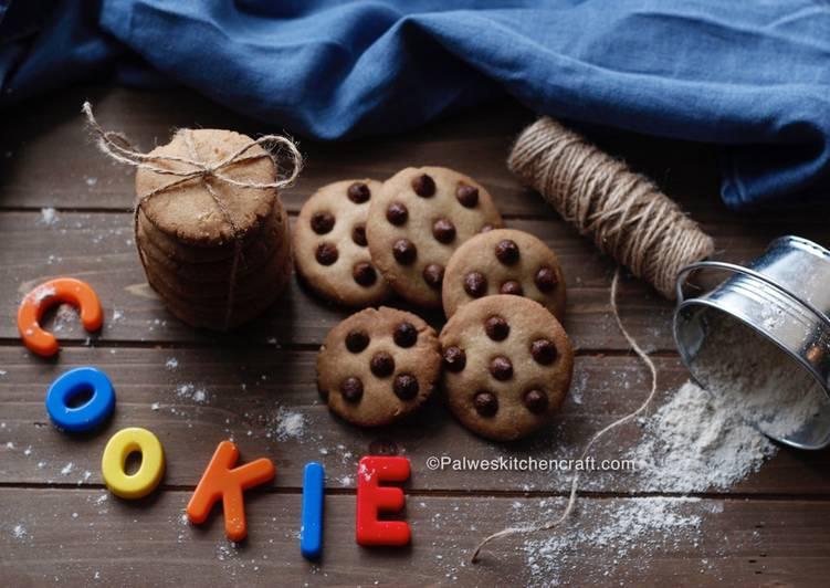 Eggless Wheat flour chocolate chip cookies