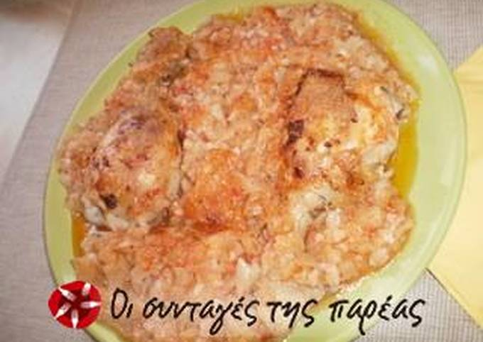 Cabbage in brine with chicken in the oven
