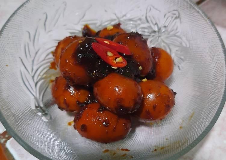 Resep Telur Puyuh Kecap Danis (Pedas Manis), Sempurna