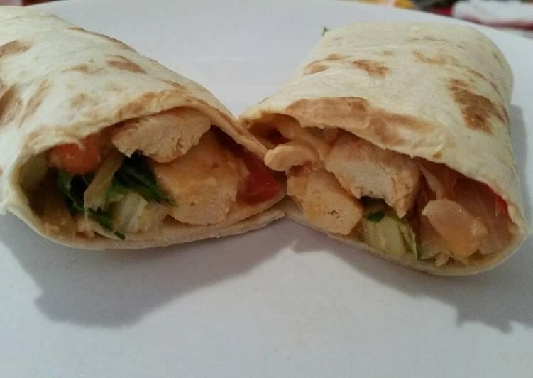 Steps to Prepare Favorite Easy chicken burritos