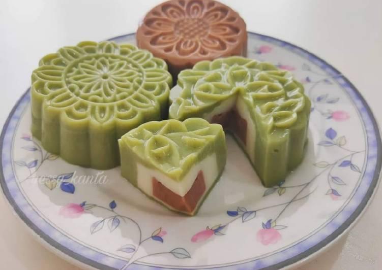 Mooncake Pudding (puding kue bulan)