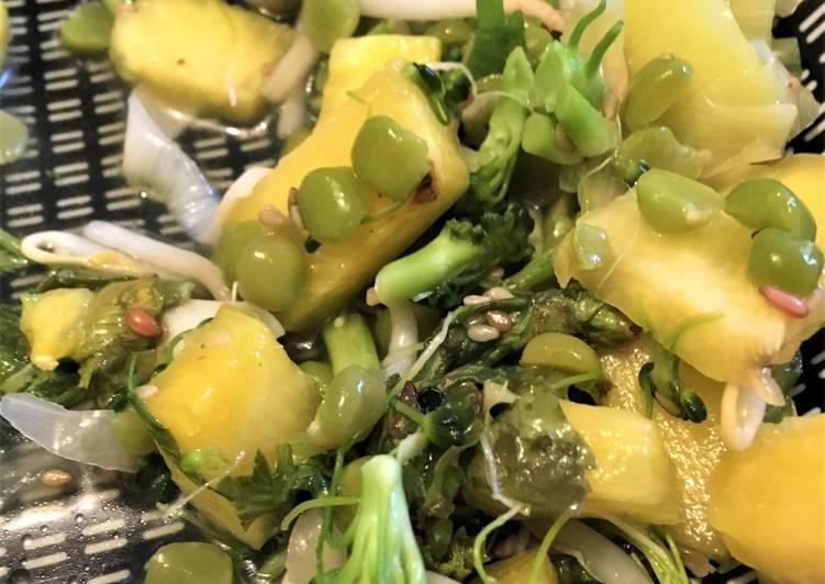 Pas a Preparer Rapide 💮 Salade exotique du printemps ⭐