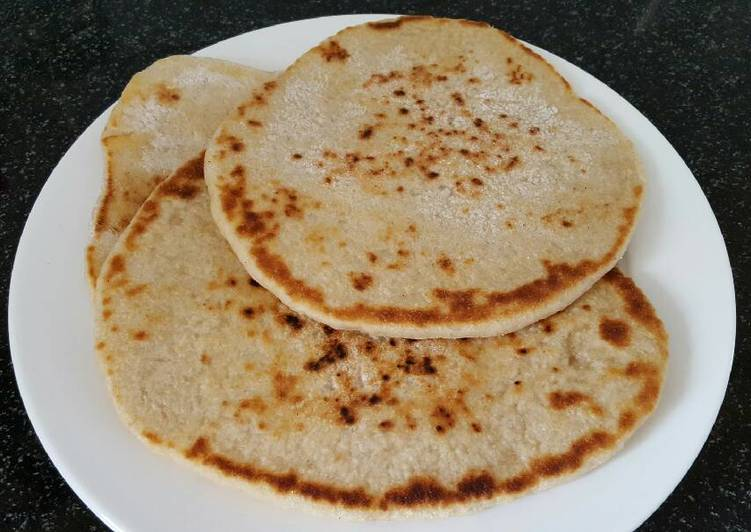 Easiest Way to Make Appetizing Sourdough Flat bread baked in the pan