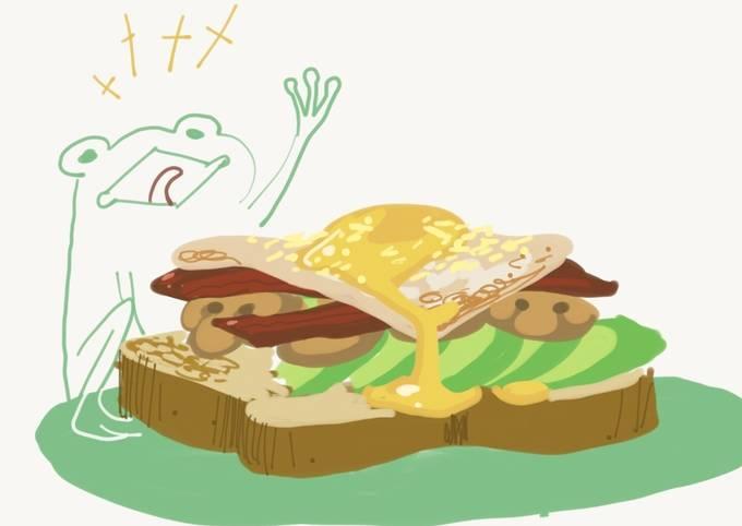 Egg n' Veggie Breakfast Sandwich