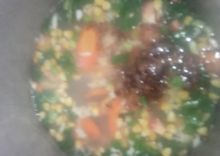 Sup Telur Pelangi