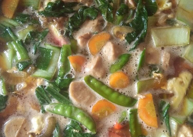 Langkah-Langkah Memasak Capcay sayur kuah pedas endesss Anti Gagal