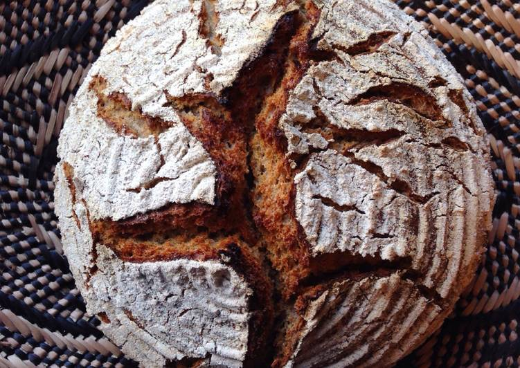 Easiest Way to Prepare Perfect Sourdough rye bread with spelt and wheat (Dutch oven ver.)
