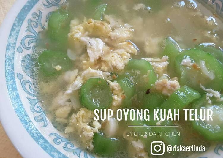 Sup Oyong Kuah Telur Sarapan #day2