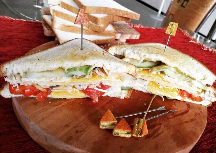Resep Double sandwich ala Mrs.Merlin Bikin Laper