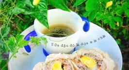 Hình ảnh món Bánh bao nhân trứng thịt Sữa đậu đỏ mix chia