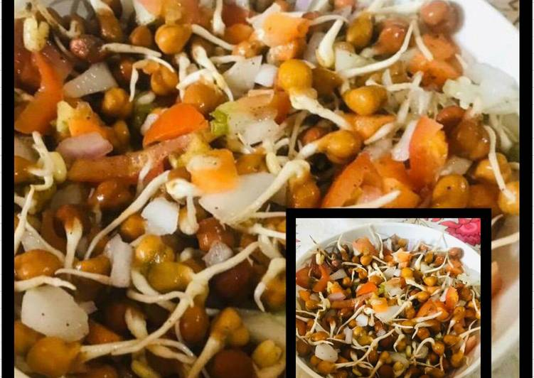 How to Elevate Your Mood with Food Healthy Sprouted chana chaat