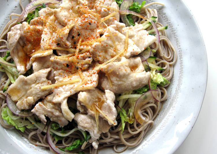 Step-by-Step Guide to Make Favorite Soba & Pork Salad With 'Mentsuyu' Sauce