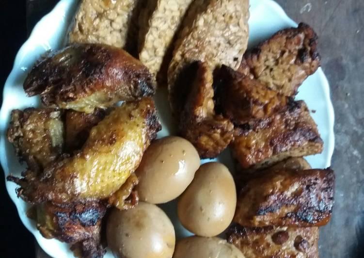 Resep Tempe, tahu, telur, ayam bacem Yang Populer Pasti Nagih