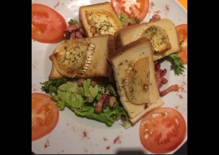 La Recette Pas à Pas Salade de chèvre chaud au miel et romarin