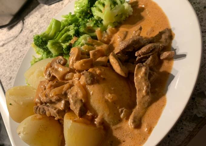 3. (Dinner/Lunch) Lower Fat Beef Stroganoff